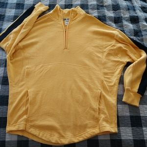 Pink VS yellow 1/4 zip top S oversized